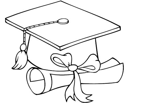 Czapka absolwenta obrazek do drukowania