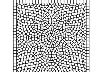 nietypowa mozaika kolorowanka do drukowania