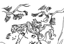 słoń brzoskwinka epoka lodowcowa kolorowanka do drukowania