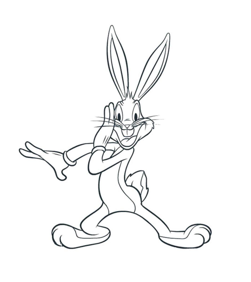 wesoły królik bugs kolorowanka do drukowania